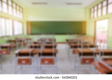 blur image of classroom with day light