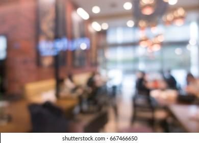 blur image of coffee shop