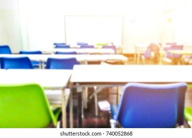 Blur image of empty classrooms, use for background.