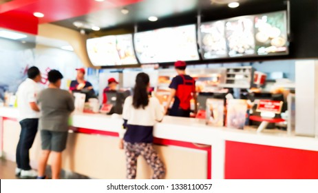 Blur image of fast food restaurant.
