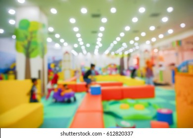 Blur Image of Indoor Playground for kids