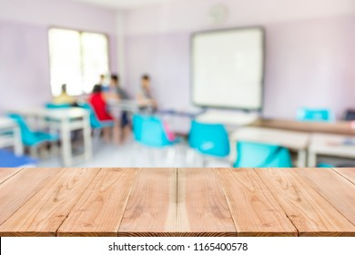 Blur image of inside the children classroom.