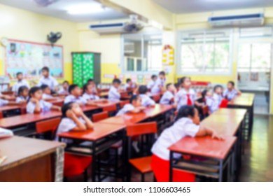 Blur image of inside the classroom.