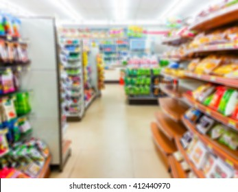 Blur image of inside convenience stores, use for background.