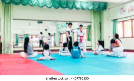Blur image of Martial Arts class use for background.