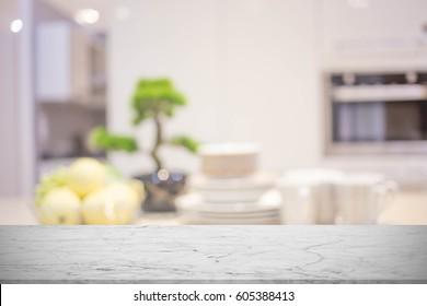 Blur image of modern Kitchen Room interior.