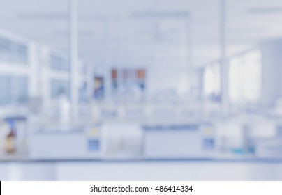 blur image of modern laboratory for pharmacy background usage .