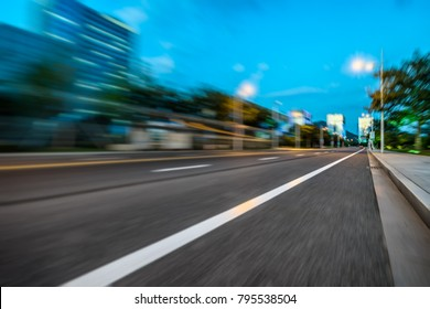 Blur image of motion as fast on the road
