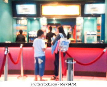 Blur image of movie ticket box.