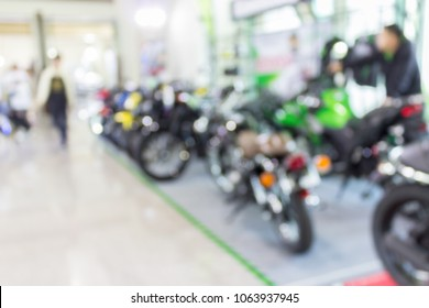 Blur image off the new motorcycle show.