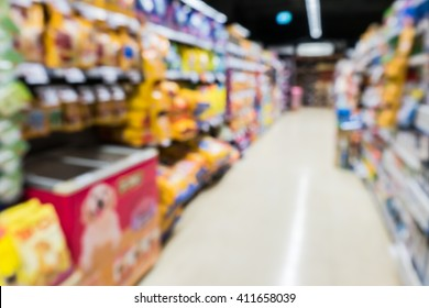 Blur Image of pet food shop
