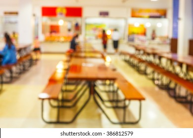 blur image of restaurant or cafeteria delicious clean food in the Education University of Thailand and sun light