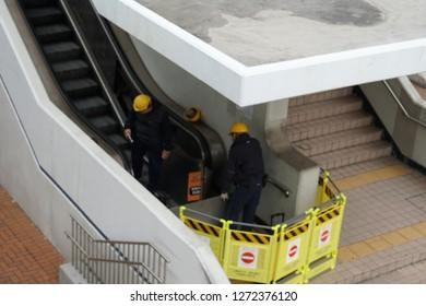 Repair Escalator Images, Stock Photos & Vectors | Shutterstock