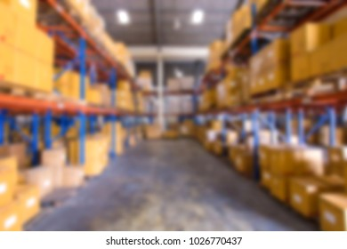 Blur image of warehouse