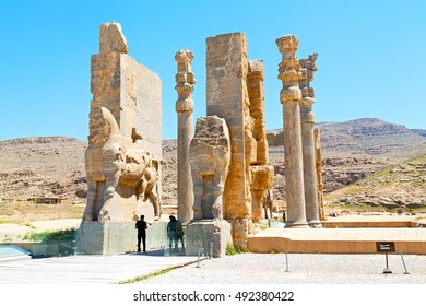 blur  in iran persepolis the old  ruins historical destination monuments and ruin