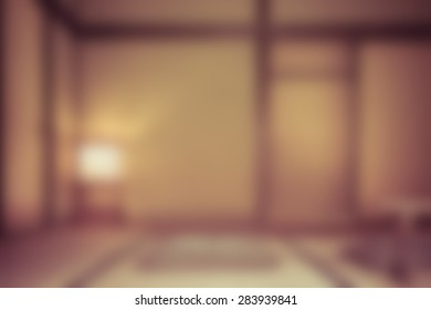 blur of Japanese tradition house