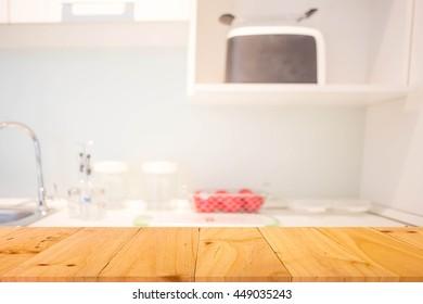 Blur Kitchen Room of The Background.
