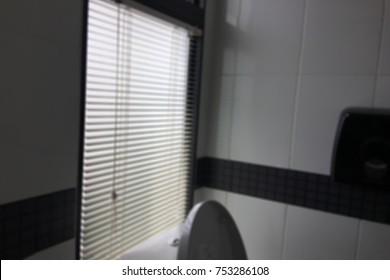 Blur light bathroom window.