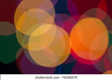 blur light bokeh abstrac background in vintage concept. Bokeh City Lights, Night city street lights background
