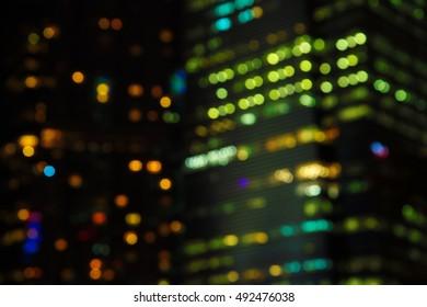blur light bokeh digital in dark night background