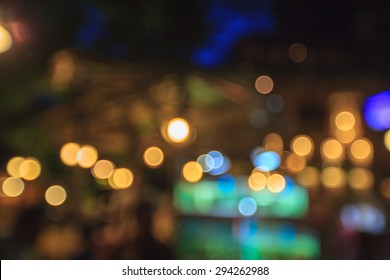 Blur light and colorful bokeh on black background