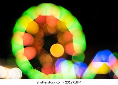 blur light of ferris wheel background