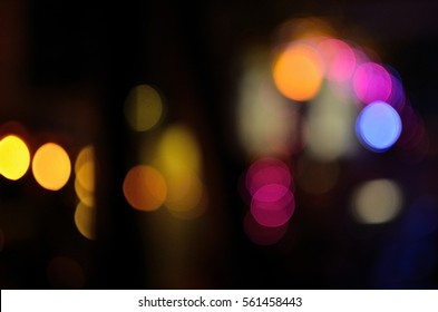 Blur Light, Out of Focus, Night time