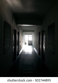 the blur of light and shadow in apartment room