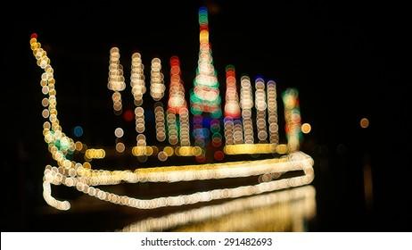 blur lighting boat.