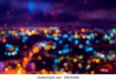 blur lights from Chiang Mai, Thailand for background usage