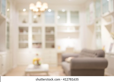 Blur Living Room of The Background