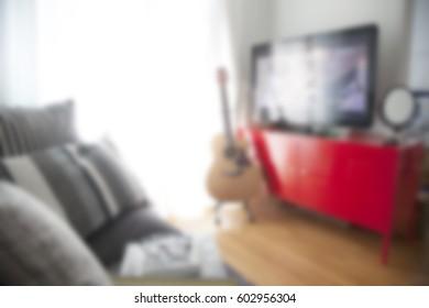 blur livingroom decoration interior for background