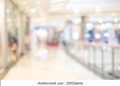 Blur mall and shop background, Store in shopping mall with bokeh light background, Perspective distribution store interior backdrop, Blur office hallway banner, Business wallpaper, poster