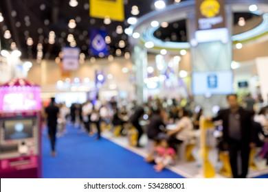 blur money expo exhibition for business trade  fair show
