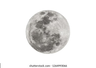 Blur moon isolated on white background.
