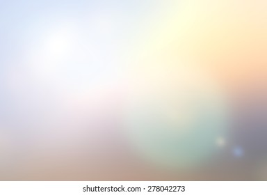 Blur nature colorful background looking up to soft cloud and sky with sun flare