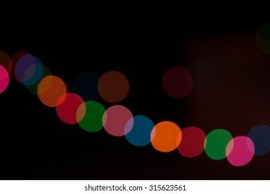 blur night light.