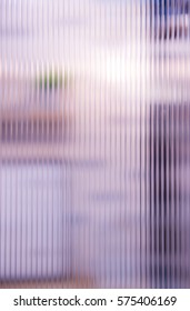 Blur object behind polycarbonate panel,selective focus.