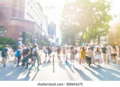 Blur people at orchard road in singapore - sunflare effect filter