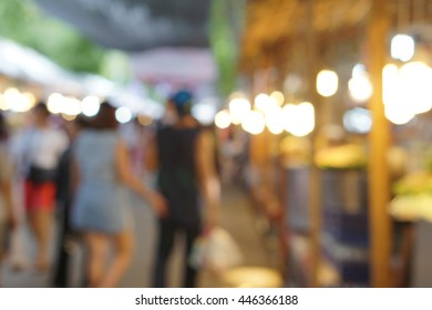 blur photo of shopping street area with bokeh light