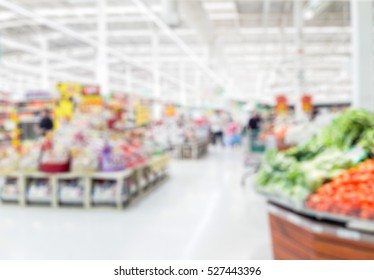 Blur photo of supermarket in thailand