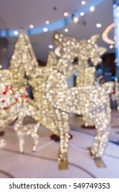 Blur picture : Christmas light in department store