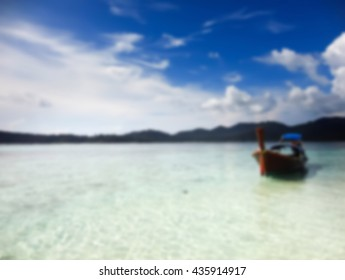 Blur Picture style ::Boat on the sea