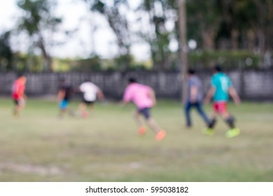 Blur play football