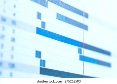 Blur project gantt chart background