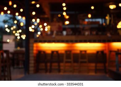 blur pub and bar at night