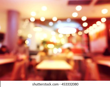 Blur restaurant with bokeh background