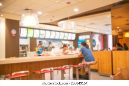 Blur restaurant - vintage effect style picture