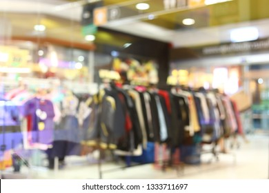 blur retail front store in shopping mall fashion lifestyle