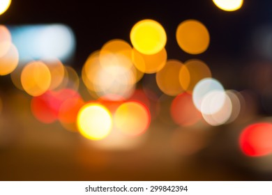 Blur road with bokeh background